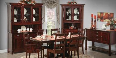 Ashville Dining Room Suite from Brookside Wood Products, Amish Wood, Dutch Craft Furnishings