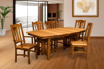 Hearth Side Dining Group,Artisan Furniture, Dutch Craft Furnishings,Dutch Craft Amish Furniture,Wood