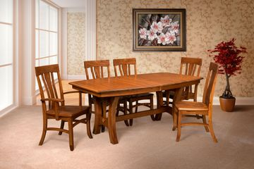 Ranier Dining Group, Artisan Furniture, Dutch Craft Furnishings, Amish Furniture,Wood