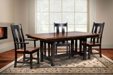 Rock Island Dining Group, Artisan Furniture, Dutch Craft Furnishings, Amish Furniture,Wood
