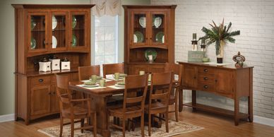 Sara Ann Dining Room,Brookside Wood Furniture, Amish Wood furniture,dutch craft furnishings