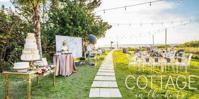 Cottage on the rocks weddings by Milan Catering