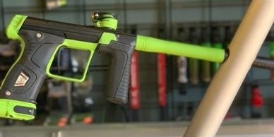 Planet Eclipse M170R Paintball marker with Cerkoted Lime accents by Nightmare Inc Paintball & Airsoft