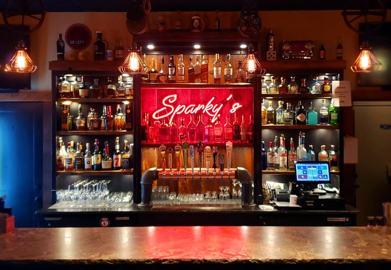 Sparky's bar, Mount Shasta, is where one can get some of the finest drinks from the finest makers.