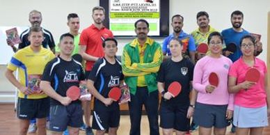 Y V Pradeep-Depp Sports-conducting ITTF LEVEL 1 Certification for Coaches.