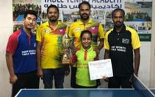 Spriha-winner in Abu Dhabi Table Tennis Tournament 2019