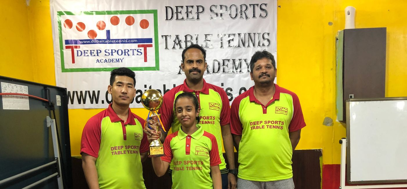 Winner at Abu Dhabi Table Tennis Tournament