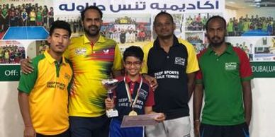 Winner at al wasl table tennis tournamnent