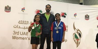 Winners and Runners-up in 3rd UAE Table Tennis women's Tournament 2019