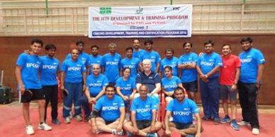 Pradeep attending ITTF Level 2 course