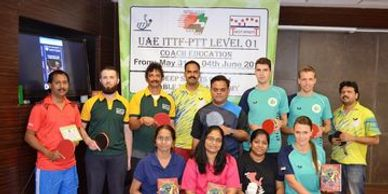 Deep Sports-YVPradeep -Conducting ITTF Level 1 Coach course at Deep Sports,Dubai