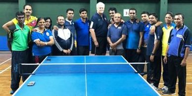 Pradeep Depp sports Head coach-attending ITTF Level 2 coach course.