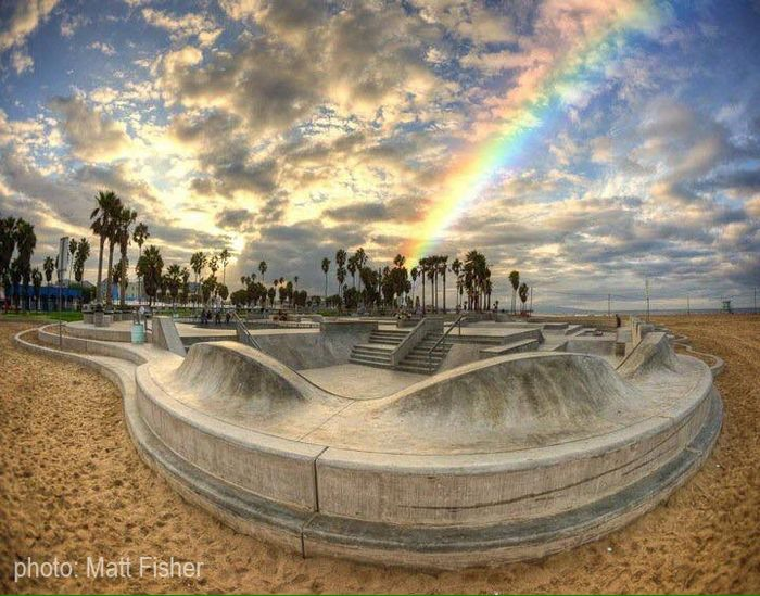 Venice Skatepark 14 years in the making. Design Jesse Martines & Zack Wormhought Photo Matt Fisher