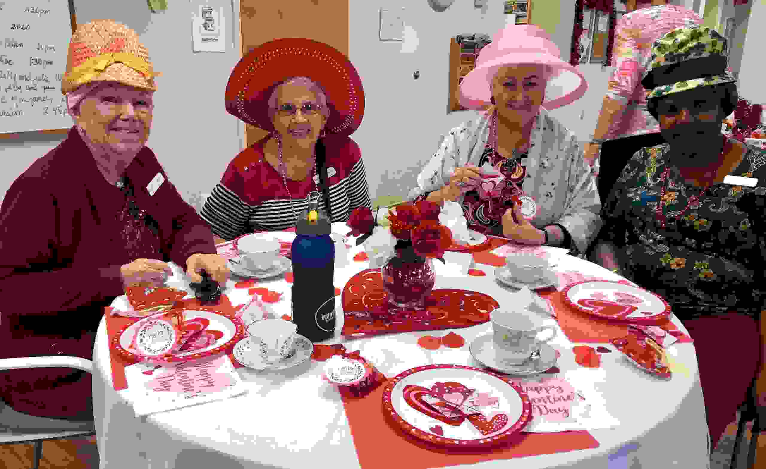 Members of Sea Breeze Adult day center in St Petersburg Florida