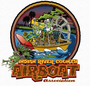 Logo for the Indian River County Airboat Association