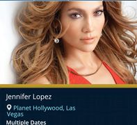 Jennifer Lopez in concert. Troy Weaver Wellness consultant.