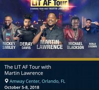 Comedy tour featuring Martin Lawrence.