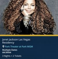 Janet Jackson live in concert from Troy Weaver. Janet Jackson tickets for sale.