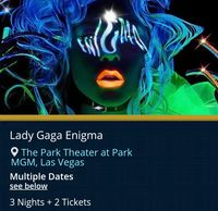 Lady Gaga live in Concert with Troy Weaver.