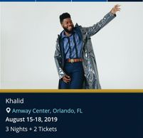 Khalid live in concert by Troy Weaver.