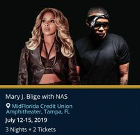 Mary J Blige and Nas live in concert by Troy Weaver.