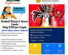 Atlanta Falcons tickets by Troy Weaver.  The Atlanta Falcons take on Tampa Bay in a rematch.