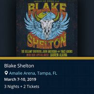 Blake Shelton live in concert by Troy Weaver.