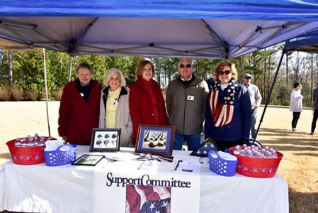 Support Committee volunteers at Wreaths Across America Ceremony.