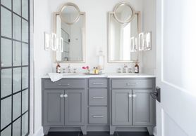 Bathroom vanity with double sink
