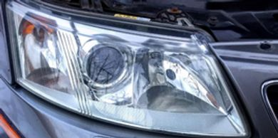 Headlight watersanding