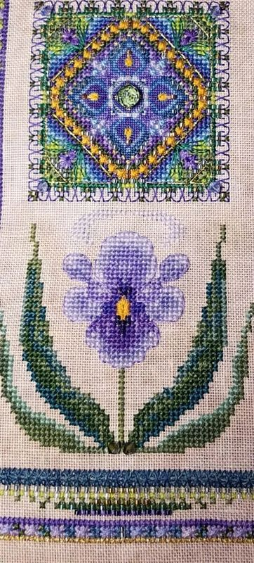 Flower Panel 01 Iris by Rahenna with custom iris colors