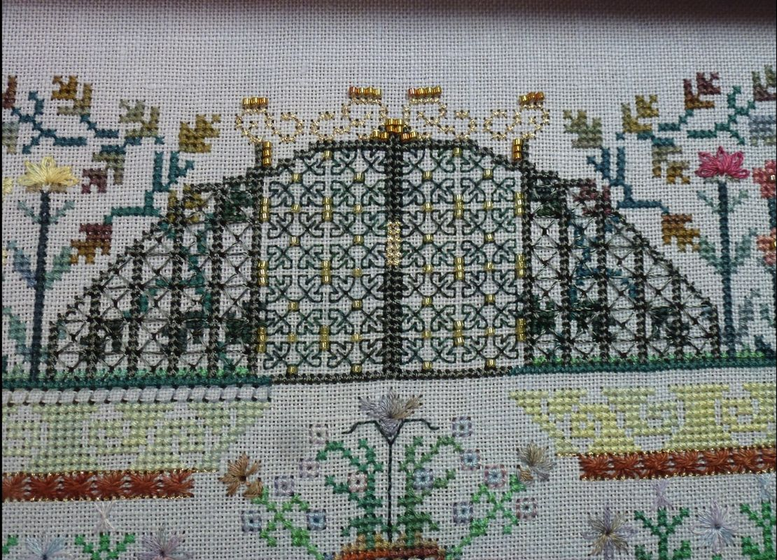 "by Kate Andrijic on 32 ct Stitches N Spice ""Dawn Light"""
