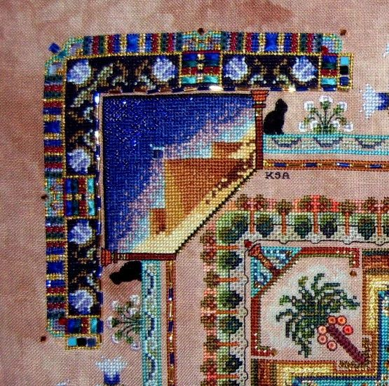 "by Kate Andrijic on 32 ct Stitches N Spice ""sugar Cane Crunch"""