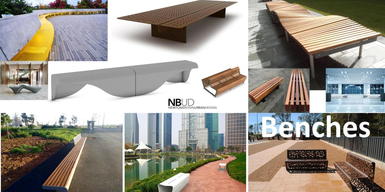 Newton Brown Urban Design portfolio benches