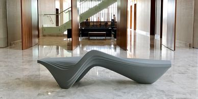 Serac bench by Zaha Hadid Design