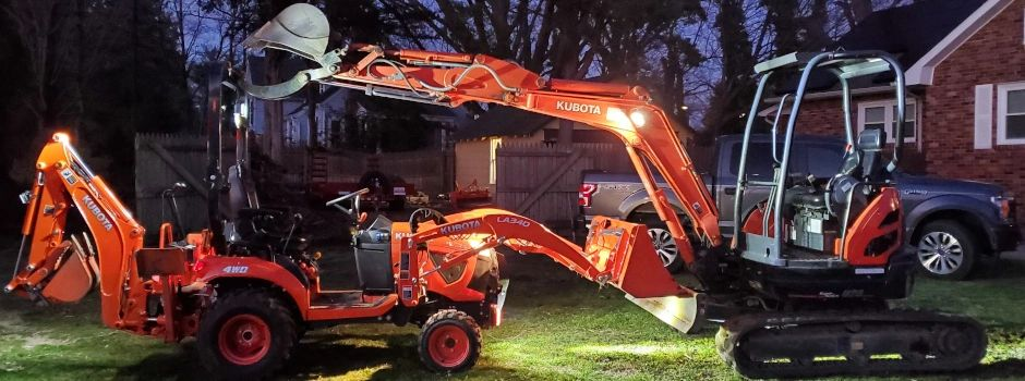 Toms River New Jersey Tractor Excavator Contractor Small Business Home Owner