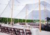 Sail cloth tents for bayside receptions