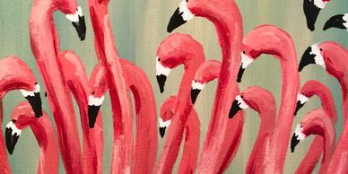 Find my flamingos and palm fronds for sale at the Sarasota Breakfast House, in downtown Sarasota, FL