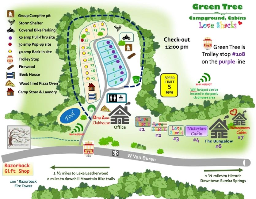 Image result for green tree camping eureka springs -KOA -Kettle