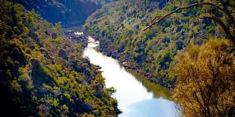 View up South Esk in Cataract Gorge Launceston