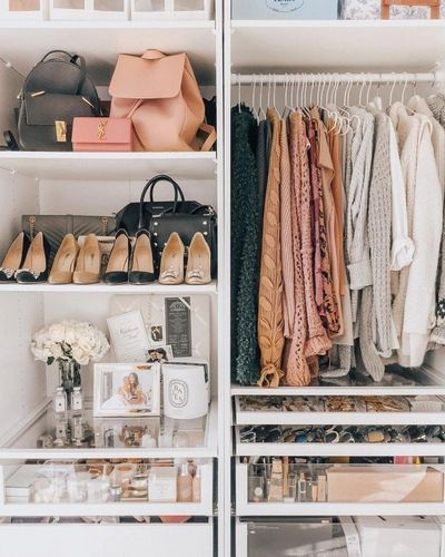 Even a small closet can look neat and put together. Everything has a place , only items you love!