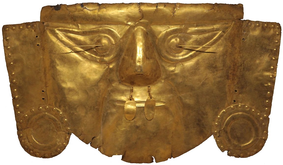 Peruvian Gold Mask is said to be from the Sican Culture - between A.D. 750-1375 from  Northern Peru