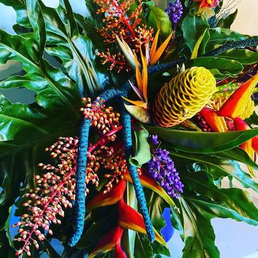 tropical flower design from Leanne Carroll Byron Bay Florist