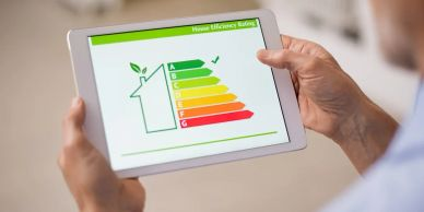 North Wales Energy Performance Certificates (EPC's) from £50 - no VAT to be added. Man holding iPad