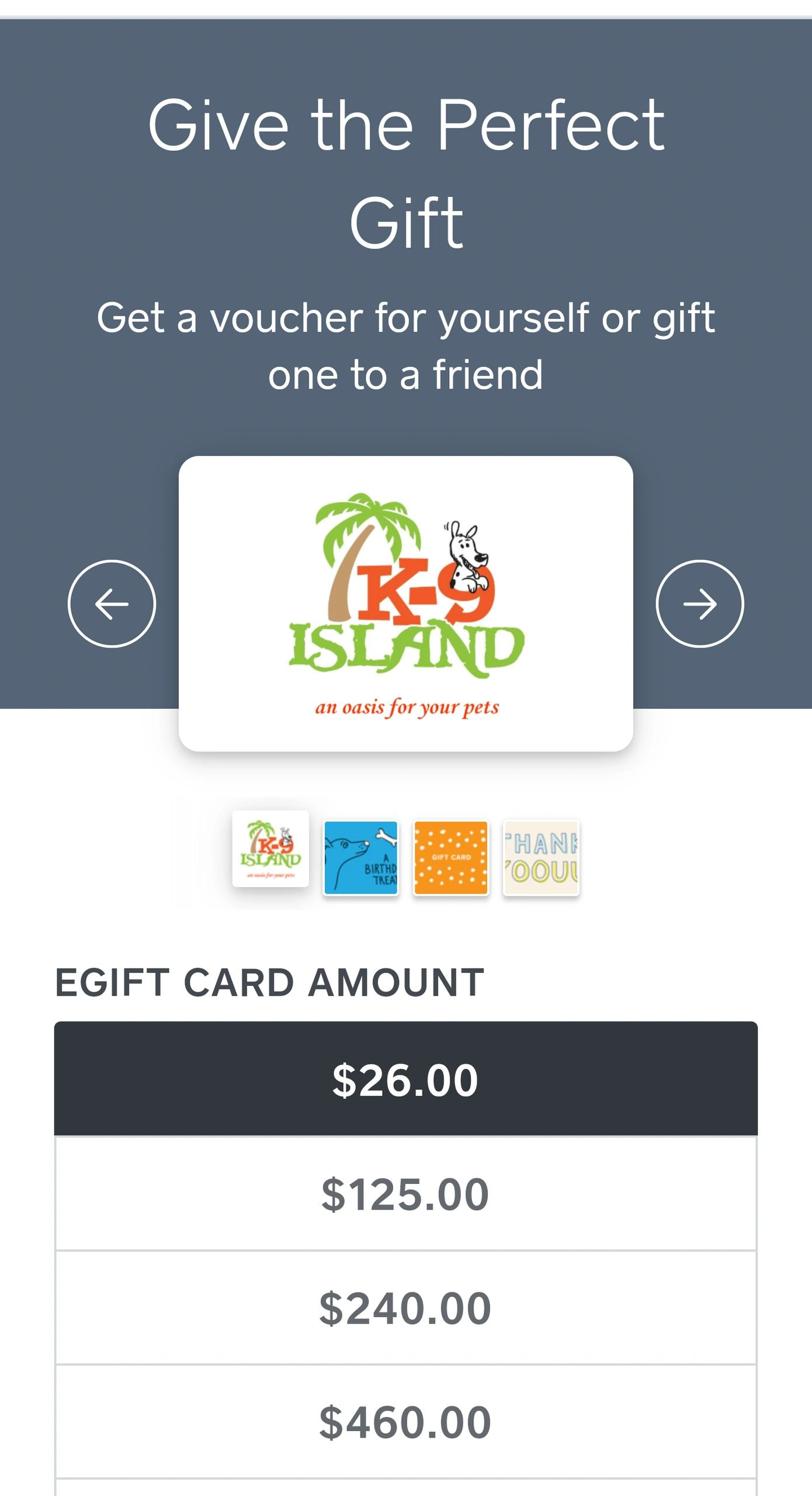"WE ARE NOW SELLING GIFT CARDS ON Facebook . Just click on the ""Purchase Gift Card"" Button"