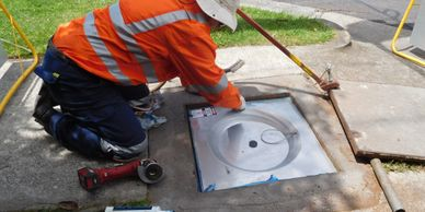 Stop Inflow & Infiltration in Sewers- Rainstopper Manhole Insert -RMIs-installation