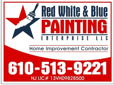 Red White & Blue Painting