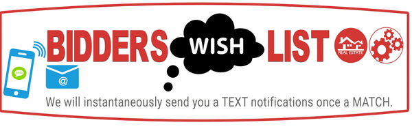 Tell Auctioneer Your Wish To Bid: Current | FUTURE Sale Event Matches get text for auction  roup