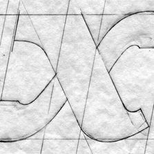 tight sketch of a lower-case letter x.