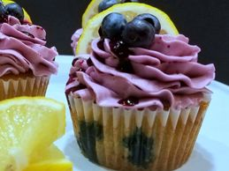 Blueberry and Lemon Cupcakes